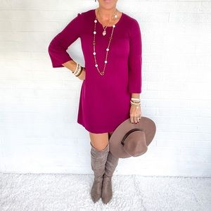 🍁👜 Roots Burgundy Sweater Dress - Small